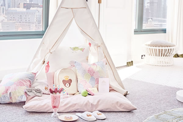 Kids Glamping Package at The Langham, Melbourne