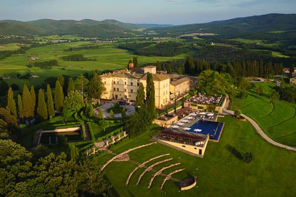 Aerial - ©Belmond Castello di Casole, Tuscany