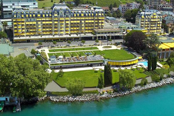 Aerial - ©Fairmont Le Montreux Palace, Lake Geneva