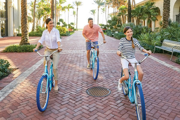 Family on Bikes ©The Breakers, Palm Beach
