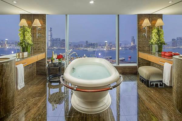 Harbour View Suite Bathroom -©Mandarin Oriental, Hong Kong