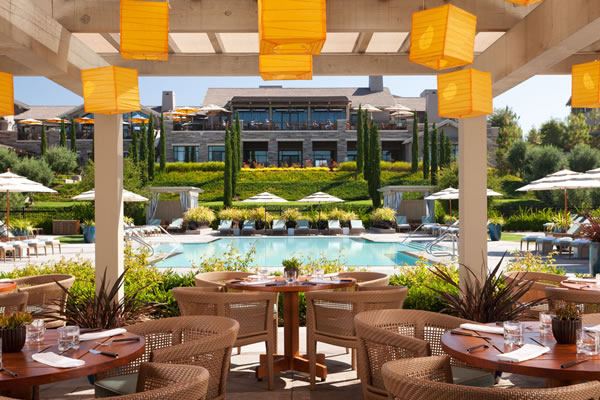 The Pool Bar & Grill -©Rosewood Sand Hill, Menlo Park