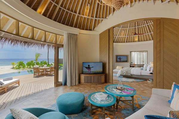 Beach Residence Interior ©The Nautilus Beach & Ocean Houses, Maldives