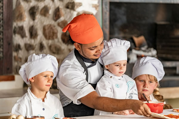 Pizza Making Class for Kids -©North Island, a Luxury Collection Resort, Seychelles