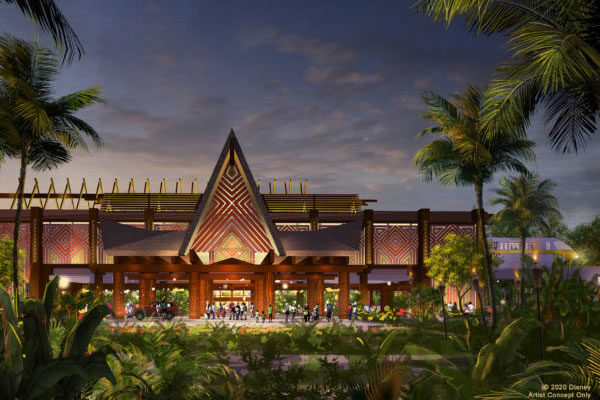 Render of New Porte Cochere -©Disney's Polynesian Resort