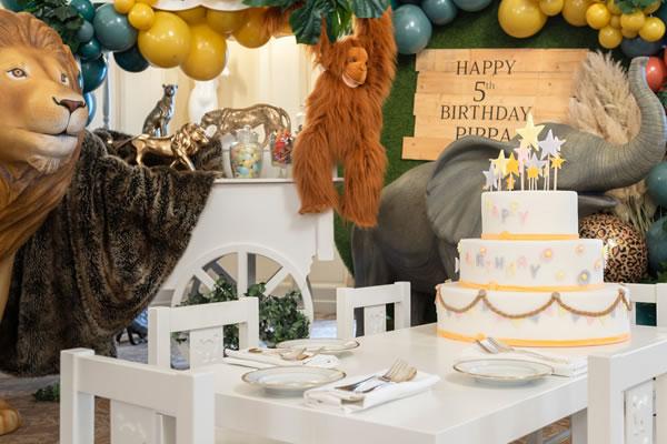 Jungle themed Birthday -©Four Seasons Hotel des Bergues Geneva