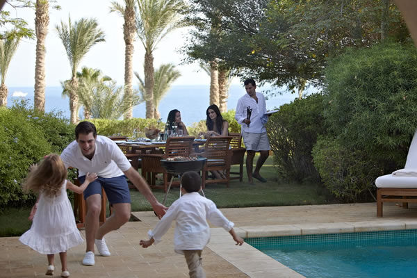 Family at Four-Bedroom Villa with Private Pool- ©Four Seasons Resort Sharm El Sheikh