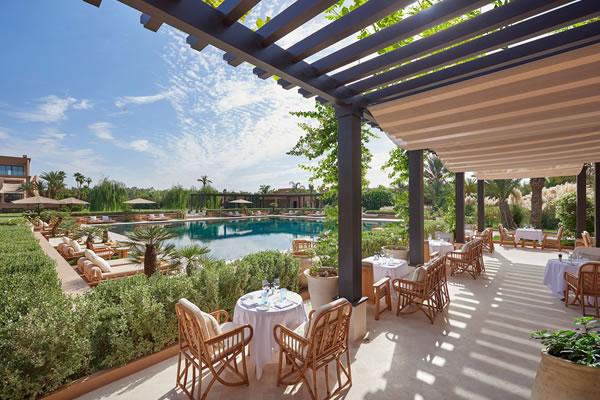 Pool View Dining -©Mandarin Oriental, Marrakech