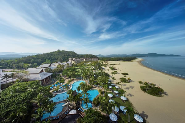 Aerial - ©Shangri-La's Rasa Ria Resort & Spa, Kota Kinabalu, Sabah, Malaysia, Borneo Island