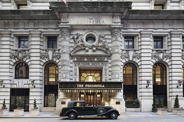 Façade with Rolls-Royce - ©The Peninsula New York