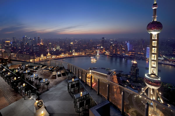 stunning views of the Bund & Oriental Pearl Tower - ©The Ritz-Carlton Shanghai, Pudong
