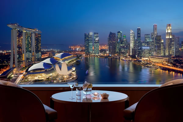 Views from the Club Lounge - ©The Ritz-Carlton, Millenia Singapore
