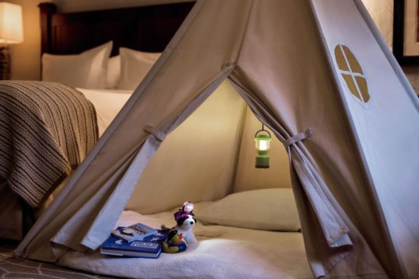 Indoor Camping -©Al Bustan Palace, a Ritz-Carlton Hotel