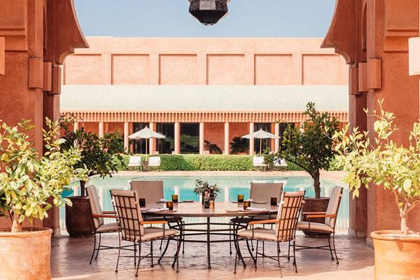 Poolside Dining -©Amanjena Marrakech