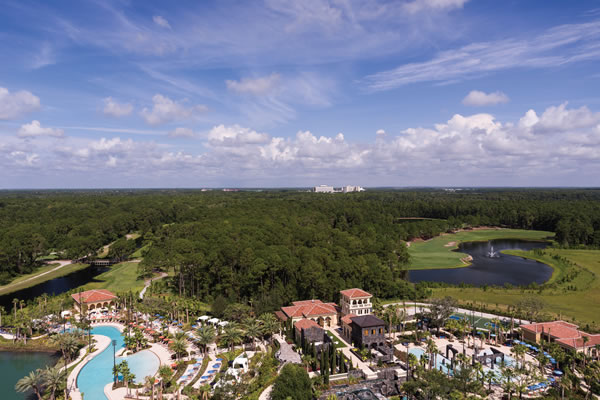 Aerial ©Four Seasons Resort Orlando at Walt Disney World® Resort