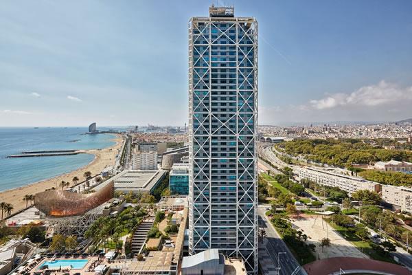 Aerial - ©Hotel Arts Barcelona, The Ritz-Carlton