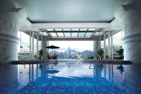 Victoria Harbour View from the Pool -©The Peninsula Hong Kong
