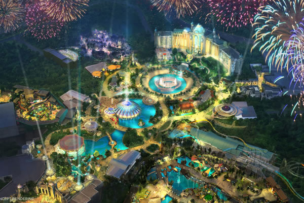 Rendering of Concept Universal's Epic Universe - ©Universal Orlando Resort