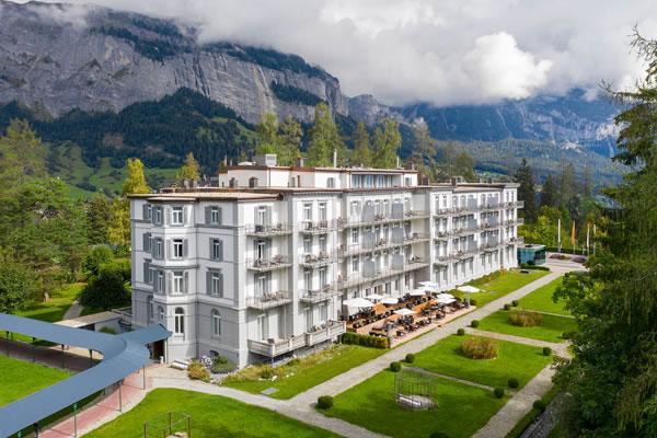 Aerial - ©Waldhaus Flims Wellness Resort
