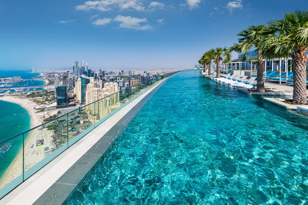 The world's highest infinity pool -©Address Beach Resort, Dubai