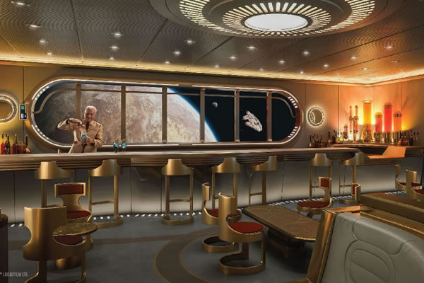 Star Wars Hyperspace Lounge -©Disney Cruise LIne