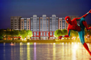 Spiderman at Disney's Hotel New York - The Art of Marvel -©Disneyland Paris