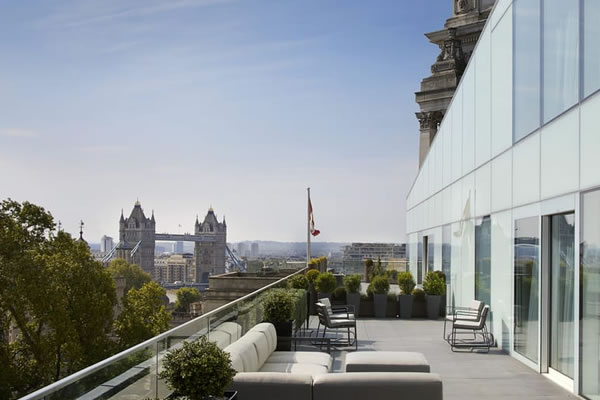 Tower Views from Private Retreats -©Four Seasons Hotel London at Ten Trinity Square