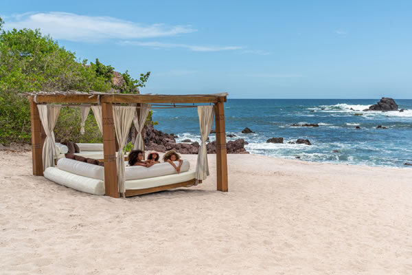Chilling on Day Bed ©Four Seasons Resort Punta Mita, Mexico