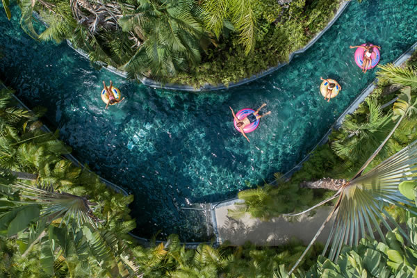 Aerial of The Lazy River ©Four Seasons Resort Punta Mita, Mexico