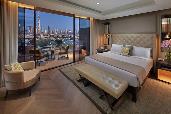 Dubai Skyline View Suite Bedroom - ©Mandarin Oriental Jumeira, Dubai