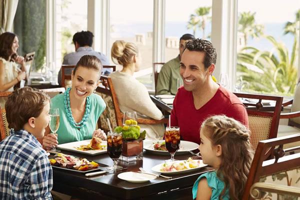 Family Dining at Loft -©Montage Laguna Beach