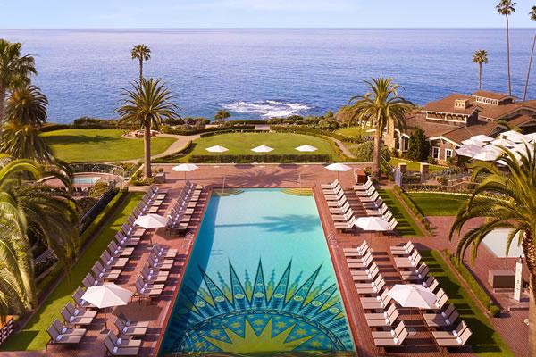 Mosaic Pool from Balcony -©Montage Laguna Beach