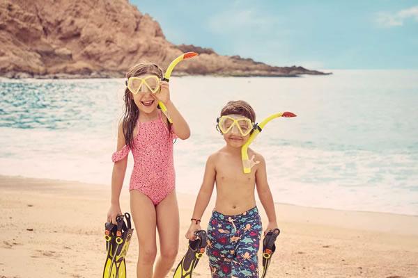 Kids in Snorkel Gear ©Montage Los Cabos