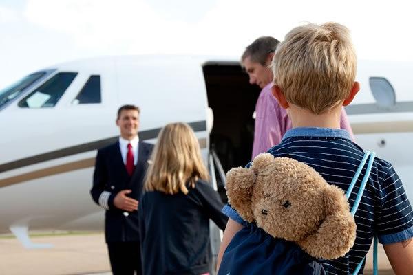 Children boarding on a Private Jet -©PrivateFly.com