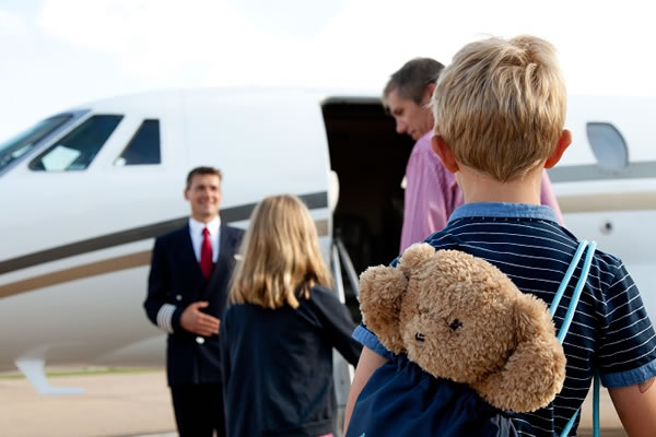 Flying with Children by Private Jet