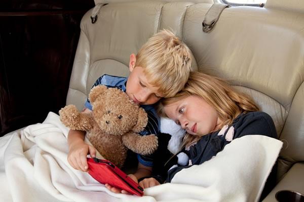 Children on board a Private Jet -©PrivateFly.com