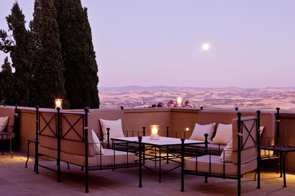 Terrace - ©Rosewood Castiglion Del Bosco, Tuscany