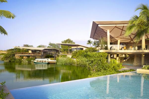 Lobby Lagoon View from Bridge -©Rosewood Mayakoba