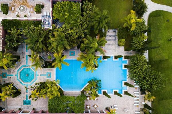 Aerial of Pools ©Anantara Villa Padierna Palace Resort