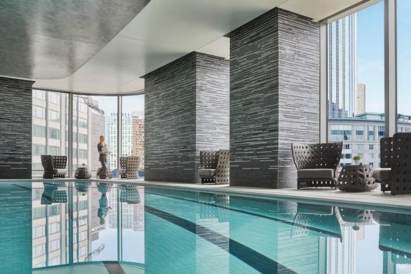 Indoor Swimming Pool ©Four Seasons Hotel One Dalton Street, Boston