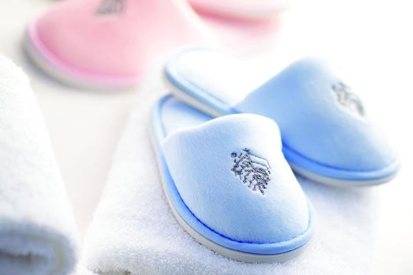 Bath Slippers for Little Travellers ©Four Seasons Hotel One Dalton Street, Boston