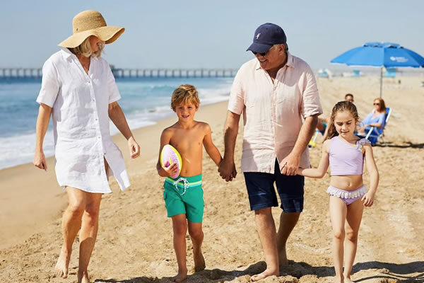 Grandparents & Kids on the Beach ®Hyatt Regency Huntington Beach Resort and Spa