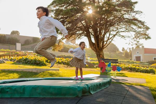 Kids on Trampoline - ©Penha Longa, A Ritz-Carlton® Hotel, Sintra, Portugal