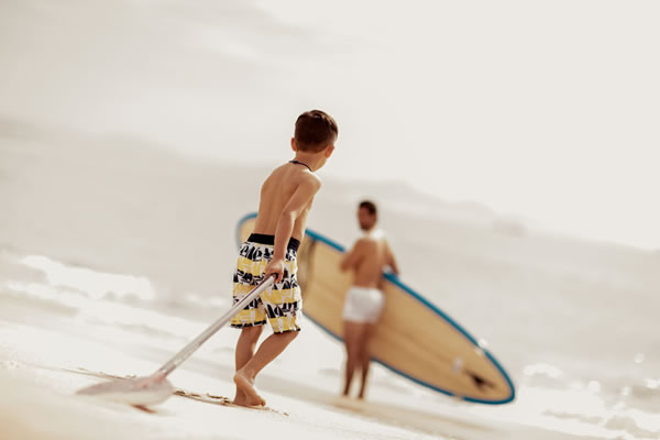 Father & Son Surfing ©One&Only Palmilla, Los Cabos