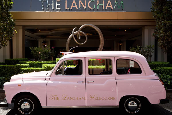 Pink Taxi ©The Langham, Melbourne