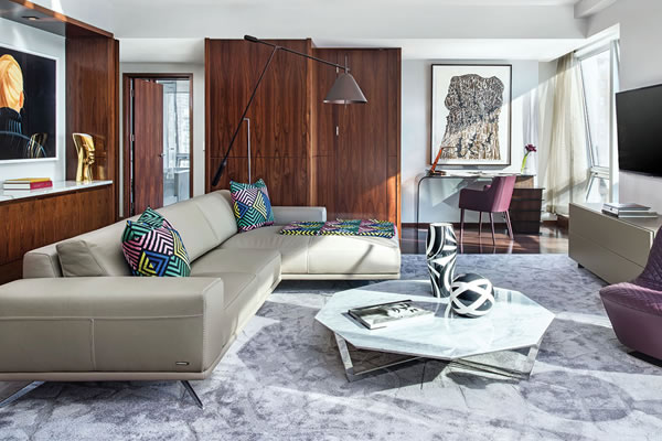 Roche Bobois Suite 2604 Living Room ©The Langham New York, Fifth Avenue