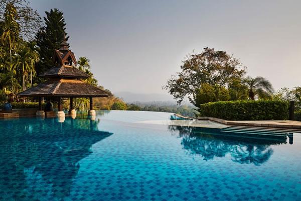 Infinity Pool ©Anantara Golden Triangle Elephant Camp & Resort