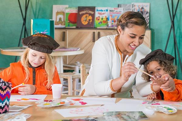 Art Class at the Kids Club ©Fairmont Royal Palm Marrakech