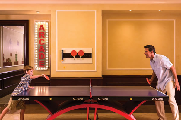 Father and Son Playing Ping Pong ©Four Seasons Hotel Westlake Village