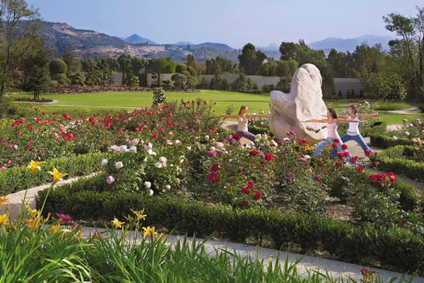 Yoga in the Rose Garden ©Four Seasons Hotel Westlake Village